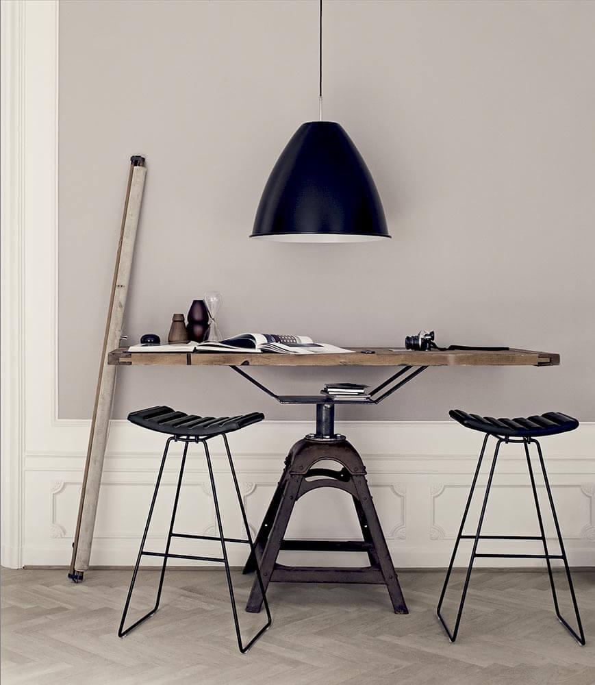 A3 stool - black leather bestlite bl9 xl - black-chrome