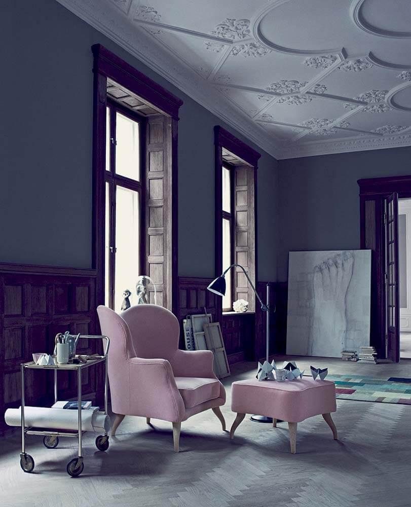 Bonaparte chair - 382 opus bonaparte pouffe - 382 opus  03 powder bestlite bl3 floor lamp - black-chrome